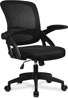 ComHoma Office Chair Ergonomic Desk Chair Home Office Desk Chairs with Flip Up Armrest, Mid Back Mesh Task Chair Swivel Ch...