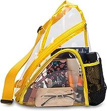 Clear Sling Bag Stadium Approved Transparent Crossbody Shoulder Backpack Bag for Men and Women (Yellow)