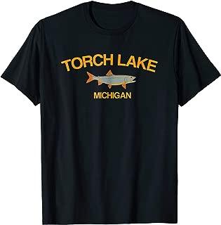 Torch Lake Fishing T-Shirt Michigan Lake Clothes