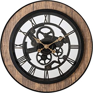 Pacific Bay Bornheim Large Decorative 20-inch Wall Clock Silent, Non-Ticking, 3-D Aluminum Dial, Easy-to-Read Roman Numerals, Quartz Battery Operated