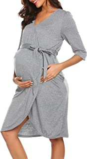 Maternity Robe 3 in 1 Labor Delivery Nursing Gown...
