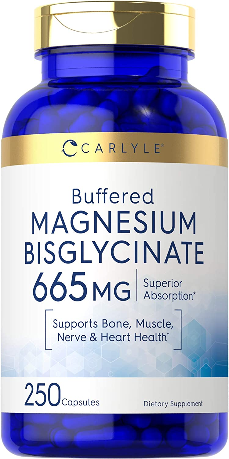 Magnesium Bisglycinate Now free shipping 665 mg 250 Powder S Buffered Ranking TOP16 Capsules