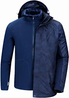 CAMEL CROWN Waterproof Ski Jacket for Men 3 in 1 Winter Jacket Windbreaker Snow Coat Parka for Hiking Snowboard