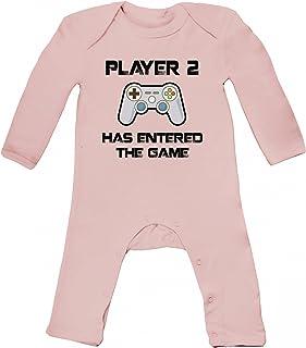 ShirtStreet Geek Nerd Gamer Baby Strampler Langarm Schlafanzug Jungen Mädchen Player 2 has entered the Game
