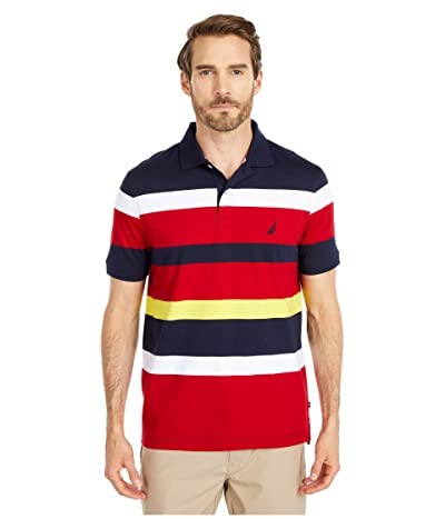 Nautica Jersey Knit Polo (Blue) Men