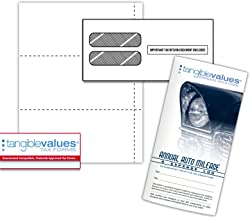 Tangible Values W-2 Blank 3-up Perforated Small Business Filing Kit (25 Employees)