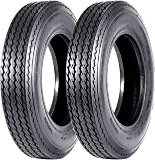 Set of 2 Highway Boat Motorcycle Trailer Tires 5.30-12 5.30x12 530-12 6PR Load Range C