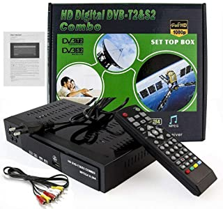 Free to Air FTA HD Smart Digital Satellite TV Receiver DVB-T2+DVB-S2 1080P Decoder Tuner MPEG4