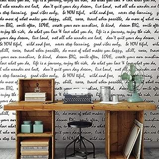 RoomMates Black Dream Big Script Peel and Stick Wallpaper