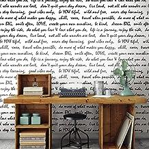RoomMates RMK9005WP Black Dream Big Script Peel and Stick Wallpaper