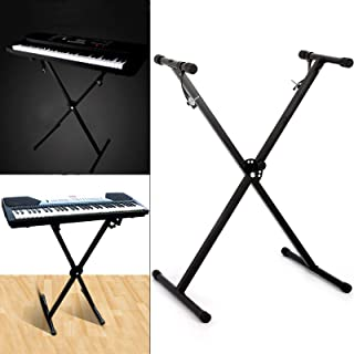 Electronic Piano X Stand Music Keyboard Standard Portable Rack Adjustable Metal for Keyboards and Digital Pianos