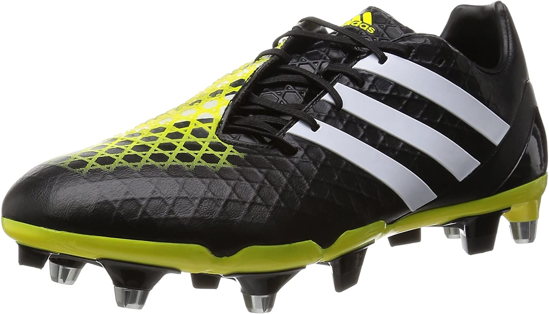Adidas SS16 Predator Incurza SG Rugby Boots  Black Yellow