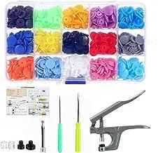 640PCS T5 KAM Plastic Snaps Fastener Buttons Press Stud Poppers Plier Kits Set / 15 Colors