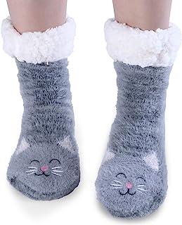 Jeasona, Calcetines de forro polar para mujer, cálidos, cómodos, antideslizantes, para invierno, 2,5 – 5