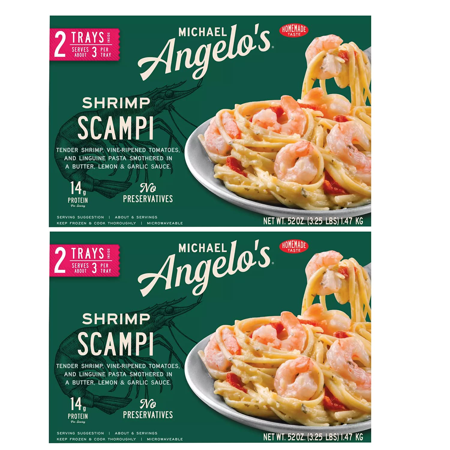 Michael Angelo's Frozen Save money Gluten Year-end annual account and Free Preservative Tender Shri