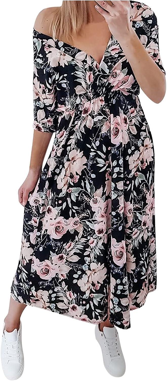 Lovely Nursling Boho Dress for Women Short Womens Max 74% Cheap mail order shopping OFF Sleeve Deep V