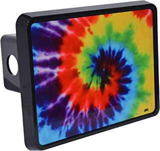 Rogue River Tactical Tie Dye Trailer Hitch Cover Plug Gift Idea Psychedelic Colorful