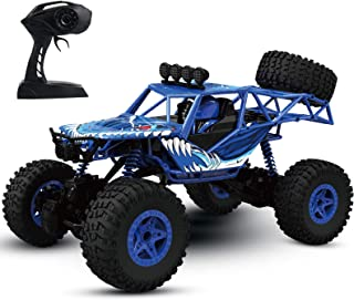 JELLY PLAY RC Car Remote Control Car for Kids,1:16 Scale 4WD Off Road Monster Truck, 3 Powerful Motors Climbing Rock Crawler,2.4Ghz All Terrain Hobby RC Truck for Boys and Girls£¨Blue£