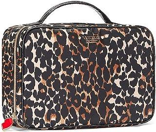 Victoria's Secret Jetsetter Travel Case Cosmetic Bag Trio Medium Exotic Leopard