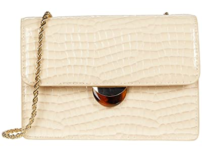 Loeffler Randall Amina Small Chain Crossbody (Ecru) Handbags