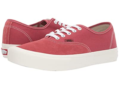 Vans Authentictm Pro (Mineral Red/Marshmallow) Skate Shoes