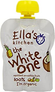 Ella's Kitchen Organic Fruit Smoothie, The White One, 4 x 90g (Pack of 1)