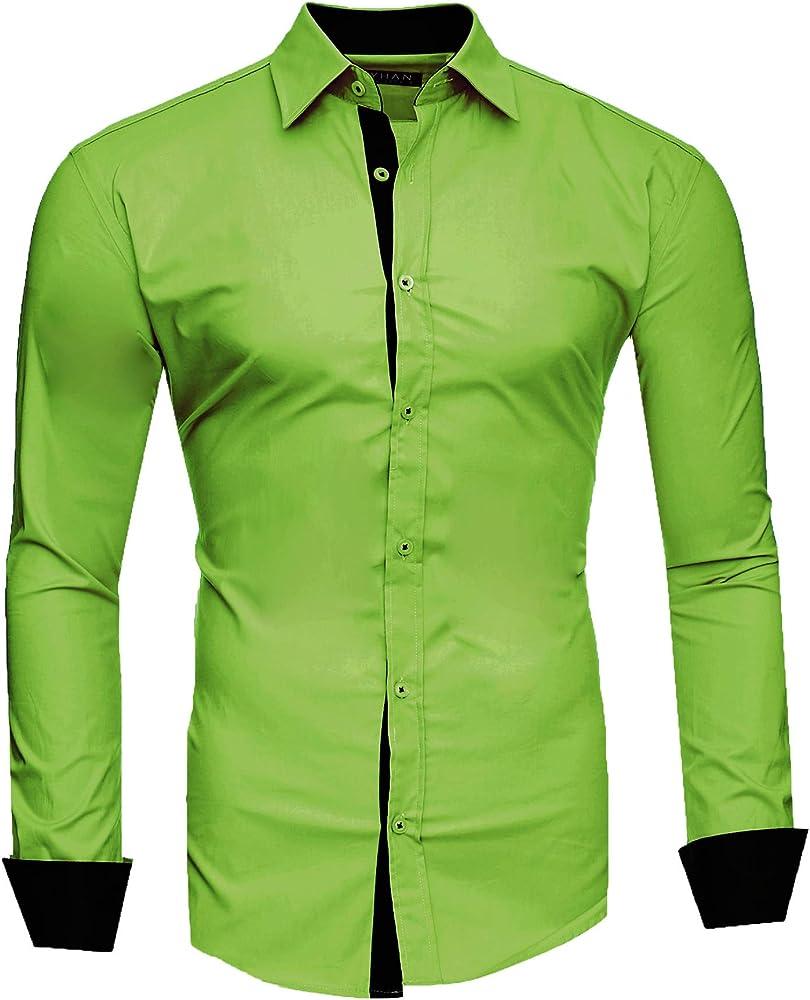 Kayhan, originale camicia per uomo, maniche lunghe, 97% cotone, 3% elastan A-TwoFace-0000135