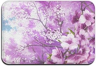 Japanese Cherry Blossom Doormats Anti-slip House Garden Gate Carpet Door Mat Floor Pads