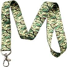 Digital Camo Camouflage Print Lanyard Key Chain Id Badge Holder (Woodland)
