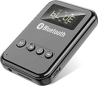 GuangDa Nadajnik Bluetooth, adapter audio 3 w 1, Bluetooth 5.0, obsługuje kartę TF o niskim opóźnieniu, nadaje się do komp...