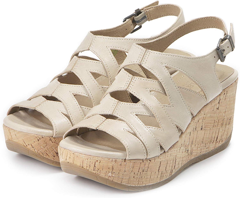 Ibiza Cage Wedge Sandals, Iris, Cut Cut Cut -Out Leather skor med Buckle  försäljning online rabatt lågt pris