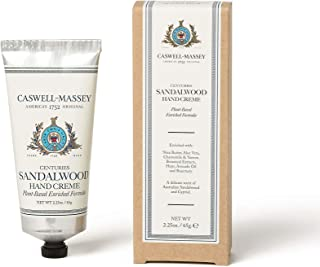 Caswell-Massey Centuries Sandalwood Hand Creme – Shea Butter Hand Moisturizer With A Natural Sandalwood Scent, 2.25 oz