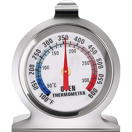 Termómetro de Acero Inoxidable para Horno, LETTURE Termómetro de Esfera Grande de Horno Termómetro, Ahumador de Parrilla de Horno de Acero Inoxidable Termómetro de Monitoreo para Hornear de Cocina para Monitoreo para Hornear de Cocina