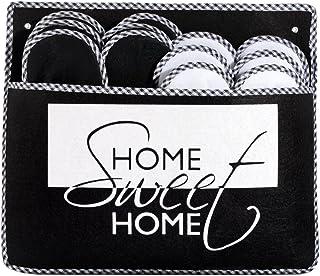 ONVAYA Pantofole per ospiti antiscivolo | set di 6 | Ciabatta in feltro | Home Sweet Home Casa dolce casa