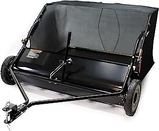 WilTec Barredora de césped 120 cm para segadora o Tractor jardín Barredora Hojas recogedor Arrastre siega