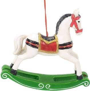 The Bridge Collection Vintage Style Rocking Horse Ornament