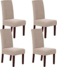 Stretch Dining Chair Velvet Fabric Slipcovers Washable Removable Chair Slipcover Dining Chair Protector Cover for Dining R...