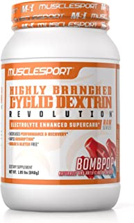 Sponsored Ad - Musclesport Highly Branch Cyclic Dextrin (BOMBPOP), Electrolyte Enhanced Super Carb, Performance & Recovery...