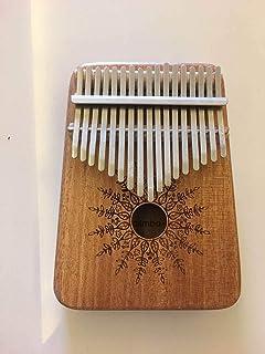 Kalimba Thumb Piano 17 keys Portable Mbira Finger Piano With Mahogany Wood And Tune Hammer Gifts For Adult Kids And Beginn...