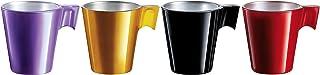 Luminarc J7270 LOT DE 4 TASSES 8CL ASSORTIMENT DE COULEUR FLASHY EXPRESSO, 0.08 liters, Multicolore