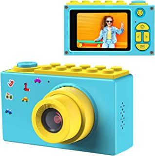 ShinePick Kids Digital Camera, Mini 2 Inch Screen Children's Camera 8MP HD Digital Camera with Silicone Soft Cover & Micro SD Card (Blue)