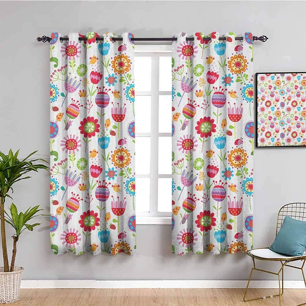 Kids Blackout Curtain Ranking Max 84% OFF TOP18 Liner Curtains inch Gar 84 Length Playful