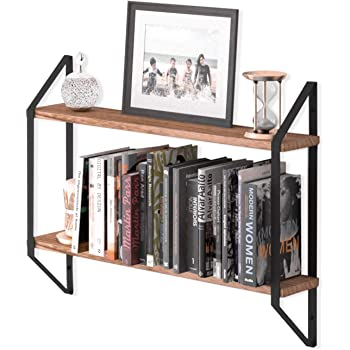 Amazon Com Wallniture Ponza 2 Tier Floating Shelves For Bedroom Wall Decor Small Bookshelf For Living Room Bedroom And Office Natural Burned Rustic Wood Wall Shelf With Metal Brackets Kitchen Dining,Vintage Hollywood Regency Vanity Chair