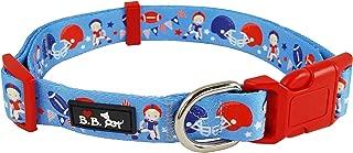 Bestbuddy Pet Kids Football Practice Blue Durable Nylon Designer Fashion Dog Collar Trendy Comfortable Adjustable Dog Collar with Buckle BBP010