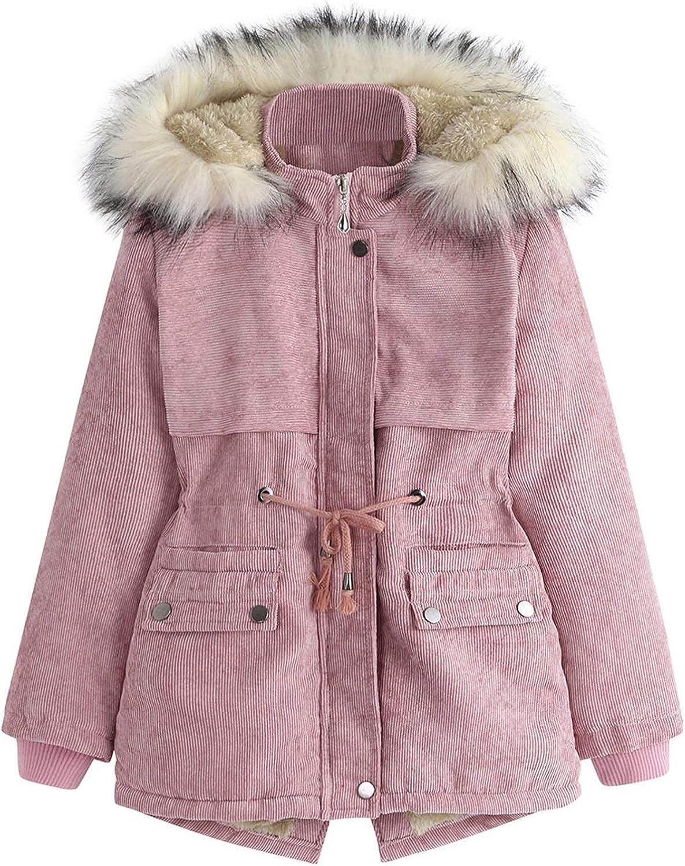Digood Boys Hooded Coat Elegant Winter Children's H Solid Corduroy Lowest price challenge Color