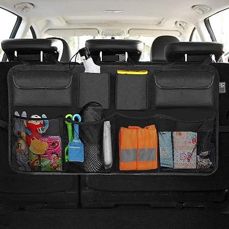 BeiLan Kofferraum Organizer Auto Schwarz Kofferraum Netztasche Car Mesh Organizer Sitzlehne Net Bag f/ür Handtasche Bag Handtaschenhalter