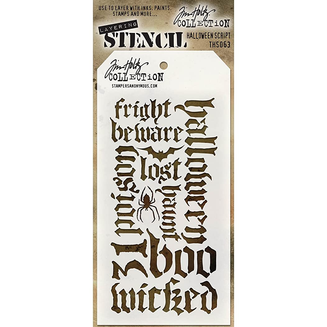 Stampers Anonymous - Tim Holtz - Halloween Script Stencil mj1451763396