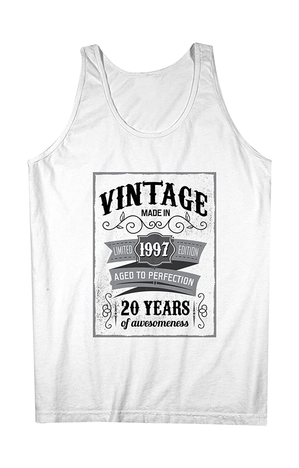 Vintage Made In 1997 20 Years お誕生日 男性用 Tank Top Sleeveless Shirt
