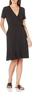 Sponsored Ad - Amazon Essentials Women's Cap-Sleeve Faux-wrap Dress