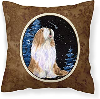 Caroline's Treasures SS8467PW1414 Starry Night Bearded Collie Fabric Pillow, Large, Multicolor